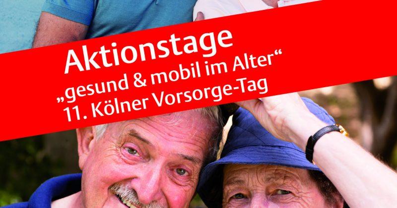 """6. + 7. März 2018 – Aktionstage """"gesund & mobil im Alter"""" in Köln"""