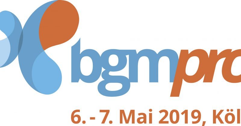 BGMpro Köln – 6. bis 7. Mai 2019